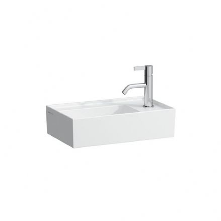 815334 - Laufen Kartell 460mm x 280mm Small Washbasin with Right Tap Bank - 8.1533.4